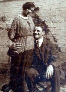 Les fiançailles de Laure et Victor en 1920